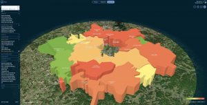 3-D imagery of DMA analytics