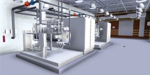 Figure 2 - BIM yielded a 3D model of the plant and also stored key asset and maintenance management information.