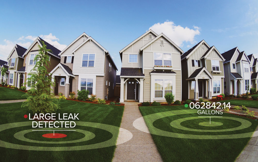 Houses with leak detected
