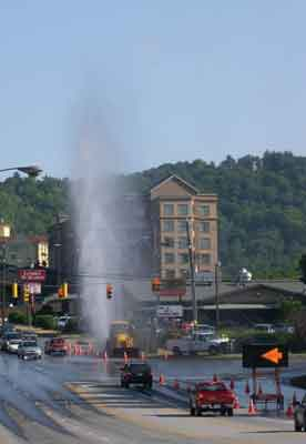 An audit of Asheville's system in the early 2000s found the city produced 21.5 million gallons of treated water each day but lost nearly 7 million GPD, approximately 30 percent.