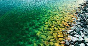 pond with rocky bottom