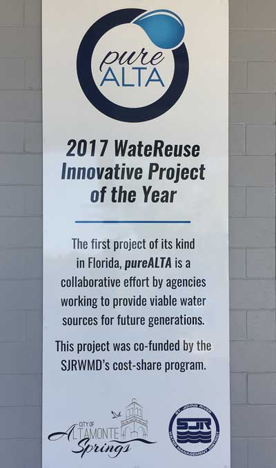 Placard at the pureALTA project