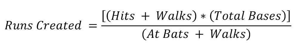 runs created equation